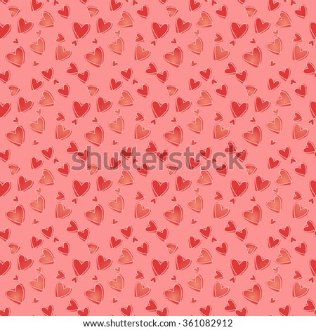 Vector seamless pattern. Light and bright texture for Valentine's Day, Web, printing, wrapping paper, background for wedding invitation or romantic wrapping paper, textiles, fabrics, home decor. - stock vector