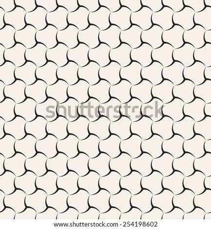Vector seamless pattern. Linear graphic design. Decorative geometric grid. Elegant regular background. Minimalist simple ornament - stock vector