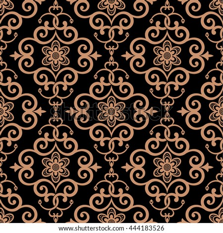 Vector seamless pattern. Luxury elegant texture. Pattern can be used as a background, wallpaper, wrapper, page fill, element of ornate decoration - stock vector