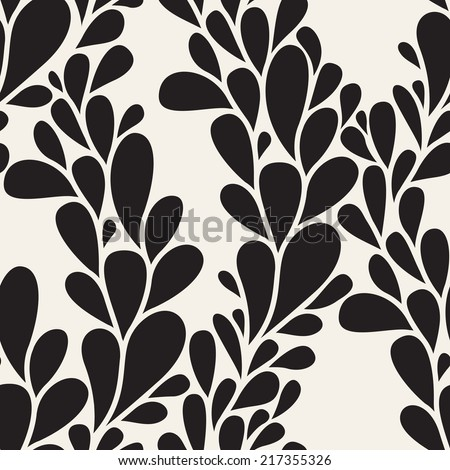 Vector seamless pattern. Modern floral texture. Endless abstract background - stock vector