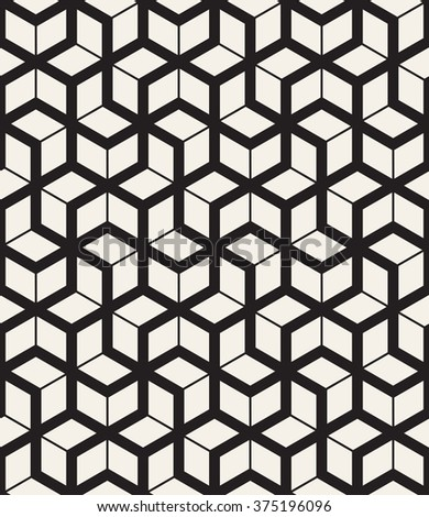 Vector seamless pattern. Modern geometric texture. Repeating abstract background. Polygonal linear grid. - stock vector