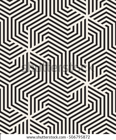 Vector seamless pattern. Modern monochrome texture. Repeating abstract background. Trendy design with geometric shapes. Stylish hipster print which can be used for cover, card, stencil etc