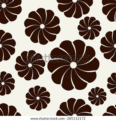 Vector seamless pattern. Modern repeating texture. Fancy print with stylized flowers - stock vector