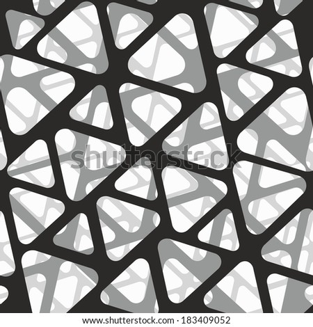 Vector seamless pattern. Modern stylish 3d texture of mesh.