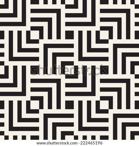 Vector seamless pattern. Modern stylish texture. Geometric ornament. Striped squares - stock vector