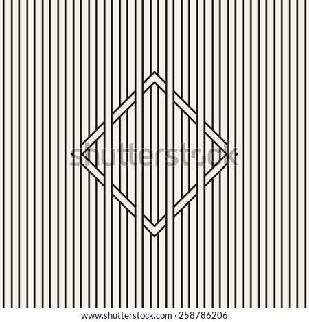 Vector seamless pattern. Modern stylish texture. Geometric striped ornament. Vertical stripes weave the square. Contemporary graphic design. Minimalist monochrome art. - stock vector