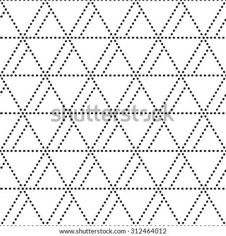 Vector seamless pattern. Modern stylish texture. Repeating abstract background with dots