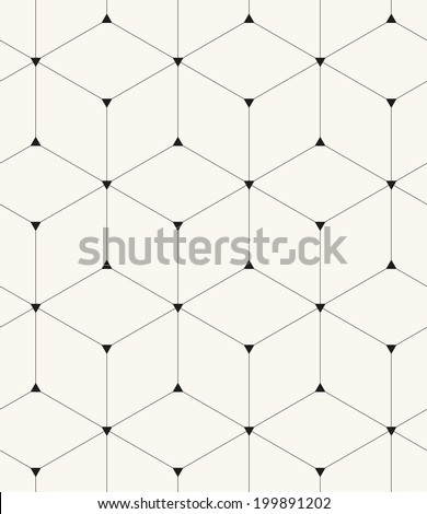 Vector seamless pattern. Modern stylish texture. Repeating geometric background with linear rhombus and triangles - stock vector