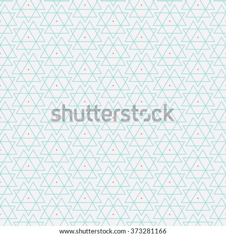 Vector seamless pattern. Modern stylish texture. Repeating geometric background with rhombus and nodes from rhombuses with circles variously sized in nodes