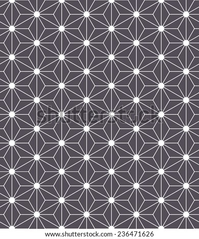 Vector seamless pattern. Modern stylish texture. Repeating geometric background with triangles - stock vector