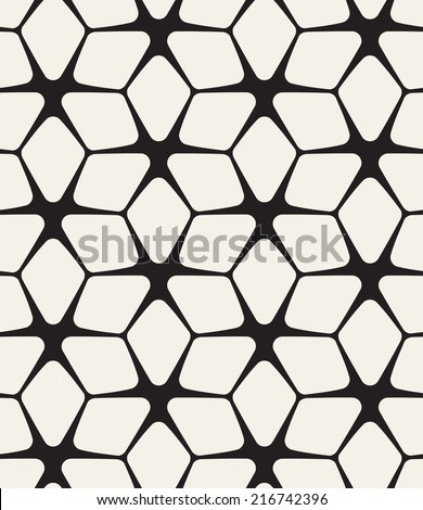 Vector seamless pattern. Modern stylish texture. Repeating geometric flowers - stock vector