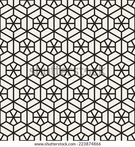 Vector seamless pattern. Modern stylish texture. Repeating geometric tiles. - stock vector