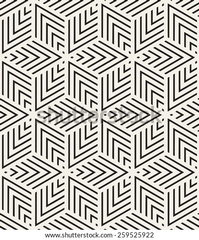 Vector seamless pattern. Modern stylish texture. Repeating geometric tiles from striped triangles. Contemporary graphic design. - stock vector