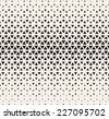 Vector seamless pattern. Modern stylish texture. Repeating geometric tiles from triangles. Monochrome grid with thickness which changing towards the center - stock vector