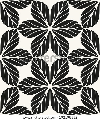 Vector seamless pattern. Modern stylish texture. Repeating geometric tiles. Geometric flowers - stock vector