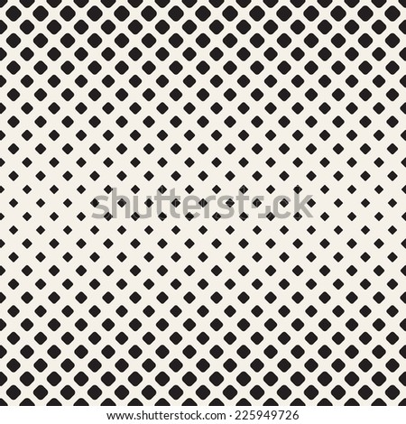 Vector seamless pattern. Modern stylish texture. Repeating geometric tiles. Halftone from smooth rhombuses - stock vector