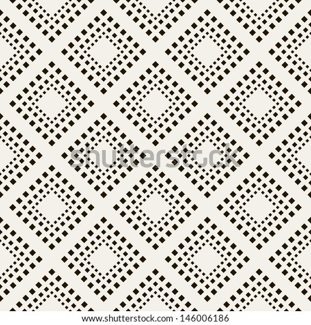 Vector seamless pattern. Modern stylish texture. Repeating geometric tiles of rhombus - stock vector
