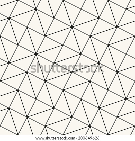 Vector seamless pattern. Modern stylish texture. Repeating geometric tiles. Rotated grid with curved squares and triangles - stock vector