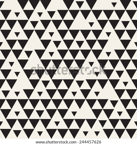 Vector seamless pattern. Modern stylish texture. Repeating geometric tiles. Simple structure with triangles - stock vector