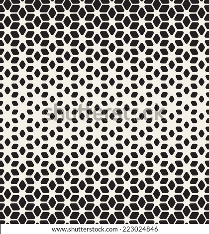 Vector seamless pattern. Modern stylish texture. Repeating geometric tiles. Smooth rhombuses forming stylish grid with thickness which decreases gradually - stock vector