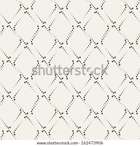 Vector seamless pattern. Modern stylish texture. Repeating geometric tiles with dotted rhombuses