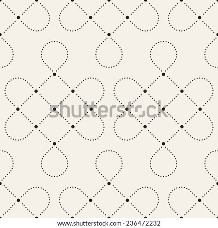 Vector seamless pattern. Modern stylish texture. Repeating geometric tiles with dotted rhombuses. Delicate geometric ornament - stock vector