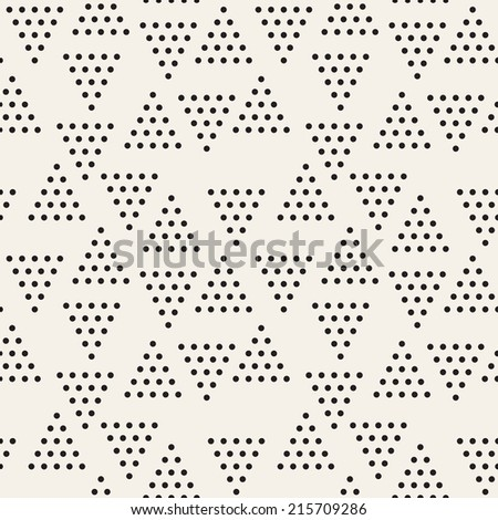 Vector seamless pattern. Modern stylish texture. Repeating geometric tiles with dotted triangles - stock vector