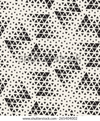 Vector seamless pattern. Modern stylish texture. Repeating geometric tiles with dotted triangles. Regular hipster background. Small triangles form minimalistic ornament.