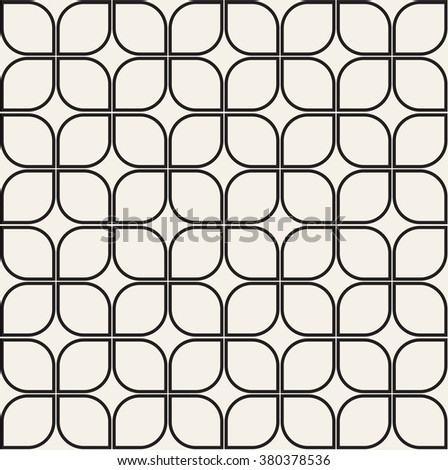 Vector seamless pattern. Modern stylish texture. Repeating geometric tiles with geometric petals. - stock vector
