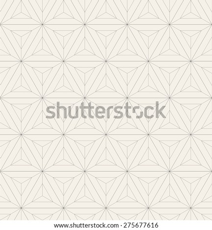 Vector seamless pattern. Modern stylish texture. Repeating geometric tiles with linear triangles. Contemporary graphic design. Simple hipster background. - stock vector