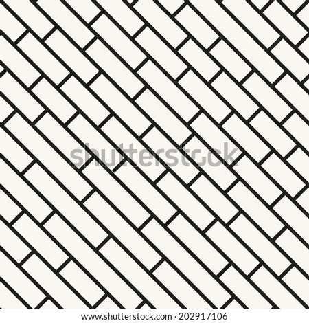 Vector seamless pattern. Modern stylish texture. Repeating geometric tiles with smooth diagonal bricks