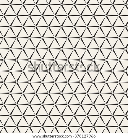 Vector seamless pattern. Modern stylish texture. Repeating geometric tiles with triangles. - stock vector