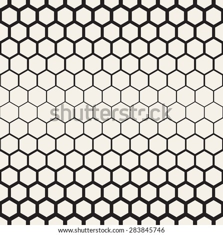 Vector seamless pattern. Modern stylish texture. Reticulate geometric tiles. Thickness decreases gradually. Contemporary graphic design. - stock vector