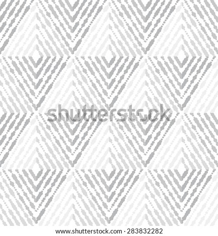 Vector seamless pattern. Modern stylish texture with rhombuses. Repeating geometric tiles. White and gray texture. - stock vector