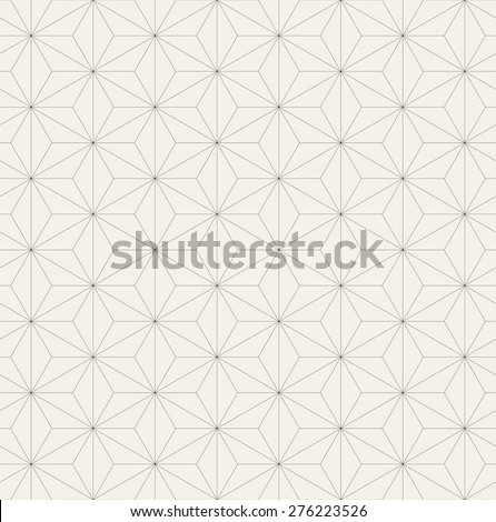 Vector seamless pattern. Modern stylish texture with thin linear mesh. Repeating abstract background. Triangles form simple geometric print. - stock vector