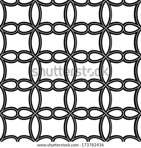 Vector Seamless Pattern - Monochromatic - stock vector