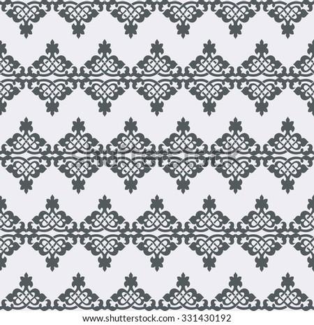Vector seamless pattern. Monochrome graphic design. Decorative geometric ornament. Regular vintage background. Modern stylish ornament. - stock vector