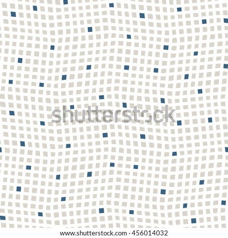 Vector seamless pattern. Mosaic texture with chaotic small squares. - stock vector