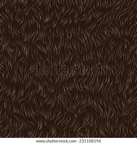 Vector seamless pattern of animal fur - stock vector