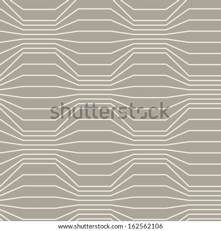 Vector seamless pattern of grey broken lines. Traditional geometric decorative latticed background. Simple abstract ornamental illustration with texture of covering for print and web - stock vector