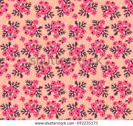 Vector seamless pattern pretty pattern small stock vector 692235175 pretty pattern in small flower small pink flowers pink background mightylinksfo