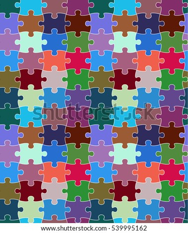 vector seamless pattern puzzle