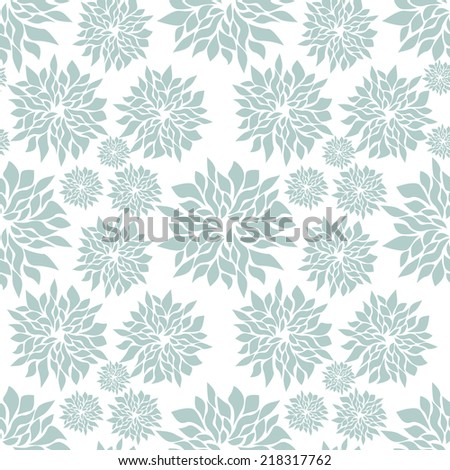 Vector seamless pattern. Repeating floral texture. Soft delicate flowers - stock vector