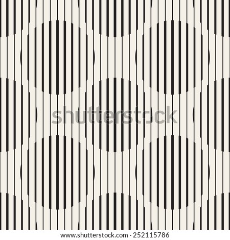 Vector seamless pattern. Repeating striped linear texture. Stylish striped background. Lines of different thickness form circles - stock vector