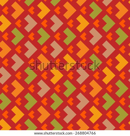 Vector seamless pattern. Retro geometric shapes. Colorful mosaic backdrop. Geometric hipster retro background for wrapping paper, package and poster design, card, book, wallpaper, textile, web page - stock vector