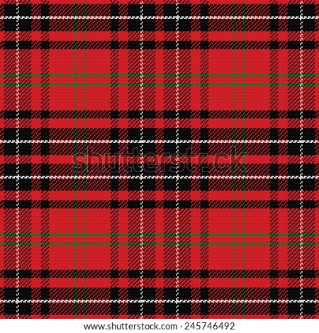 vector seamless pattern Scottish tartan, red and green, blue and yellow - stock vector