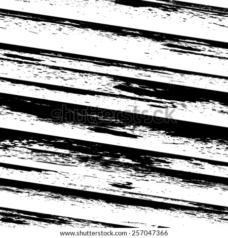 Vector Seamless Pattern . Seamless Texture with Grunge Elements . Grunge Stripes . Brush Strokes Pattern . Repeating texture . Monochrome Background . Scratch Texture . Dirty Distress Texture . - stock vector