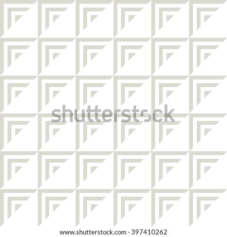 Vector seamless pattern. Simple background with striped triangles. Geometric abstract texture. Modern hipster swatch. - stock vector