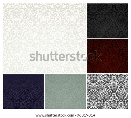 Vector seamless pattern, six colors - stock vector