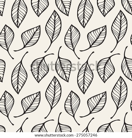 Vector seamless pattern. Stylish repeating texture. Repeating  floral texture - stock vector